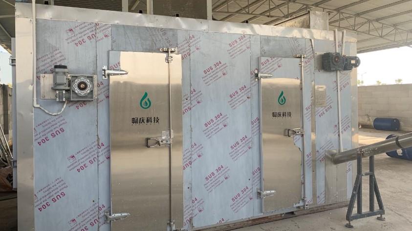 台州达辰药业污泥低温干化机应用