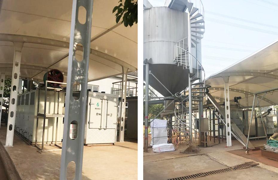 太仓港城污水处理低温干化机应用
