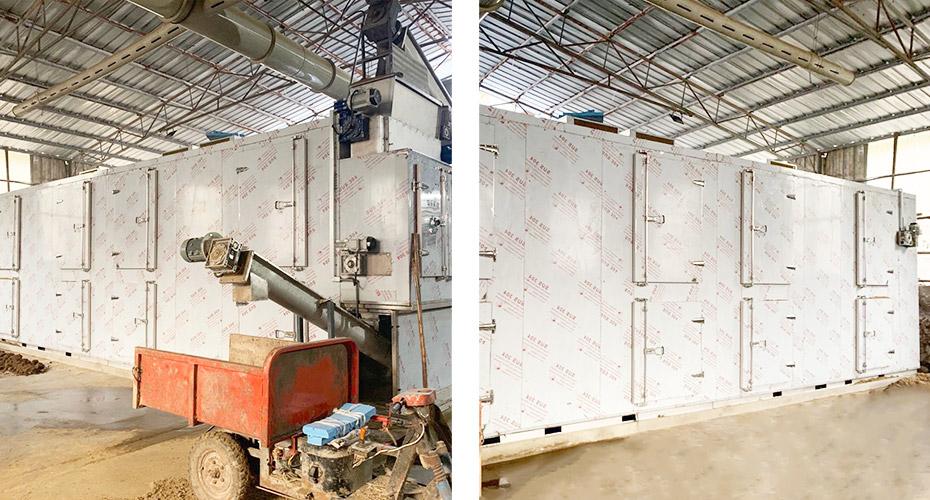 杭州沃坞奶牛场污泥带式干化机应用