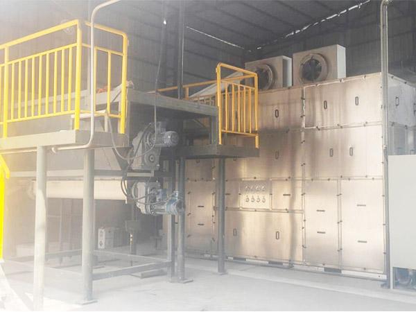 九洲药业污泥低温带式干化机应用