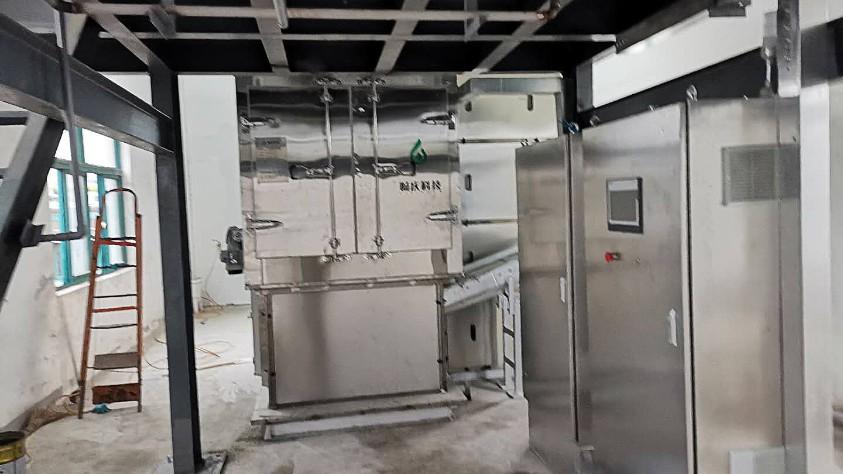 浙江晖石药业污泥低温干化机应用