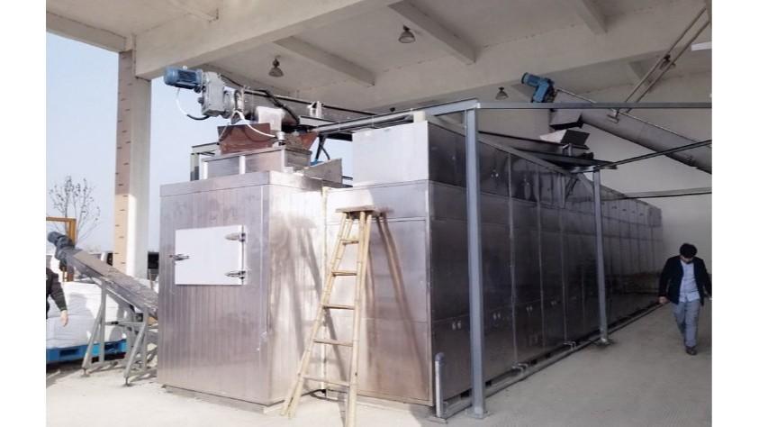 椒江前所水处理污泥低温干化机应用